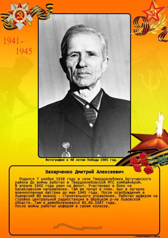 Захарченко Дмитрий Алексеевич