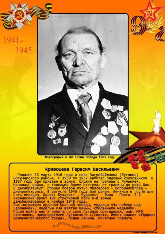Кривошаев Герасим Васильевич