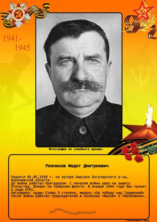 Резников Федот Дмитриевич