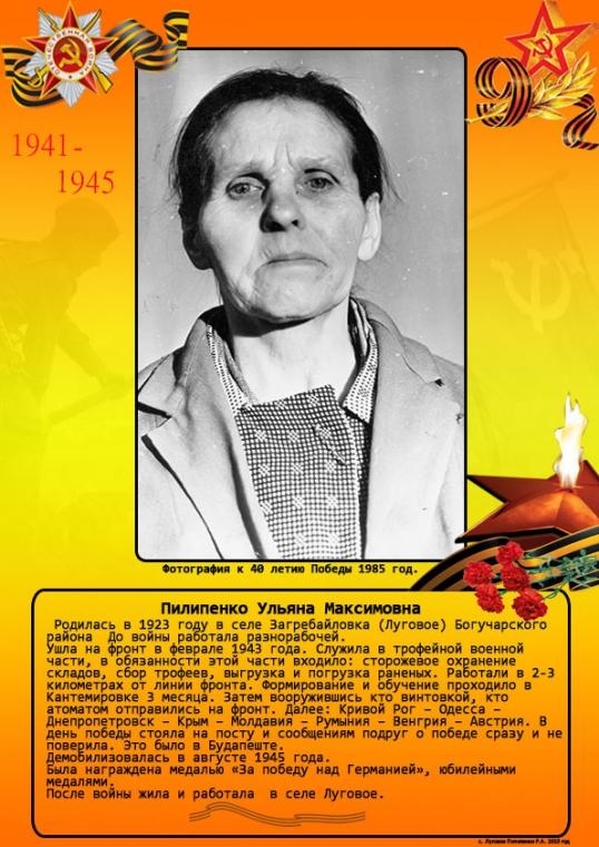 Пилипенко Ульяна Максимовна